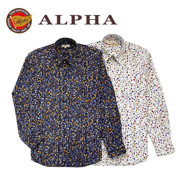 ギフト 日本製 1897年創業 新作通販 株式会社アルファー ALPHA カジュアルシャツです 《送料無料》1897年創業アルファー カジュアルシャツ 日本製メンズ 内祝い