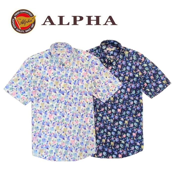 ギフト 日本製 期間限定の激安セール 期間限定 1897年創業 株式会社アルファー 綿100%メンズ 半袖シャツ 日本製《送料無料》1897年創業アルファー ALPHA