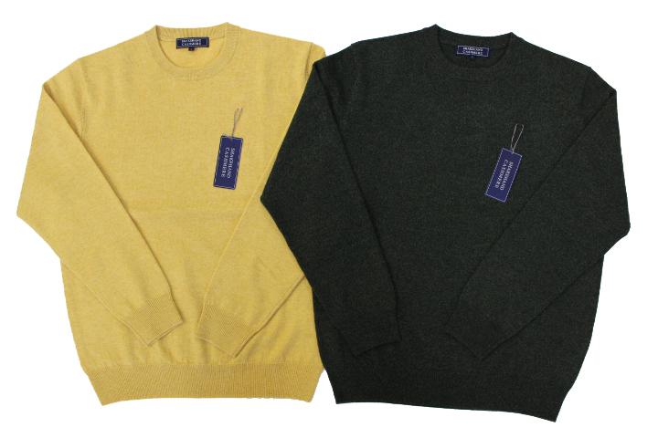 《送料無料》カシミヤセーター★1897年創業【ALPHA】カシミヤ100%メンズ・クルーネックセーター
