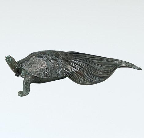 庭置物/般若純一郎作「亀噴水(小)」銅製 55-59