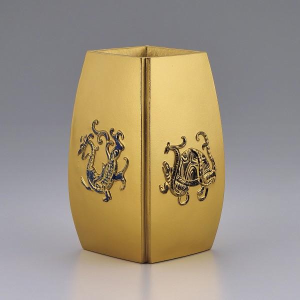 花瓶/花器「四神獣花器 金色」107-06