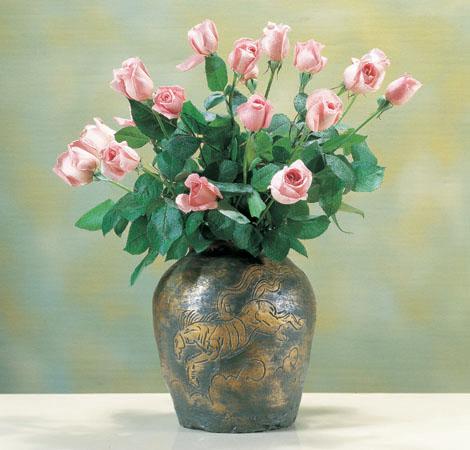 花瓶/「来福」銅製 北村西望作 94-51