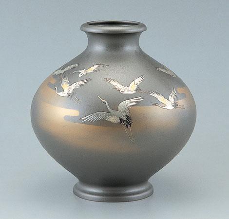花瓶/新寿形「千羽鶴」102-51【ポイント10倍