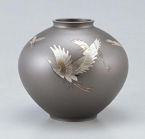 大きな取引 花瓶/寿形「五羽鶴」102-52, レインボー商事:ad63031b --- totem-info.com