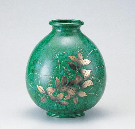 花瓶/福寿形「萩」100-56