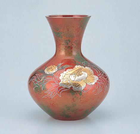 花瓶/花器 富士形「牡丹」95-03