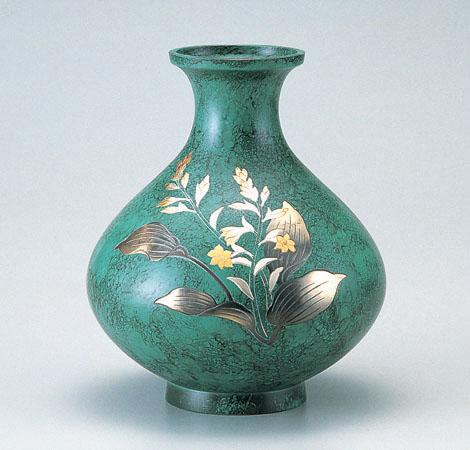 花瓶/鳳寿形 8号「ぎぼうし」銅製 山本秀峰作 101-56