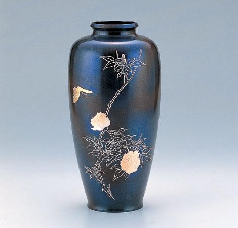 花瓶/細夏目「花蝶文」101-55