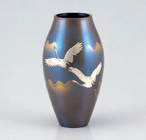 花瓶/広口砲形「双鶴」103-51