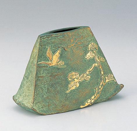 花瓶/「あけぼの」銅製 中村喜久雄作 104-56