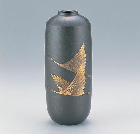 花瓶/蒔絵「双鶴」108-51