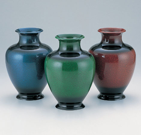 花瓶/「住吉形」109-59(ブルー)/109-60(グリーン)/109-61(レッド)