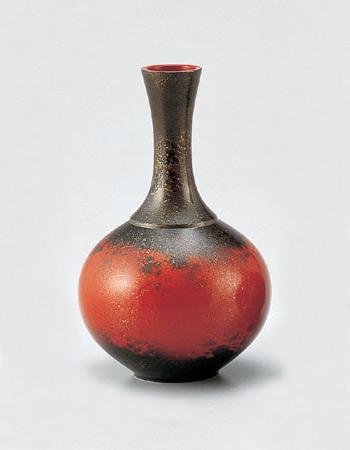 花瓶/花器 「宝月形 レッド」104-2