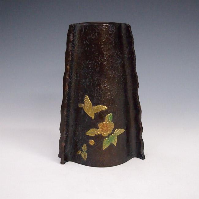 花瓶/花鳥 変形 変形 桐箱入りk4 花器 銅製 銅製 桐箱入りk4, UIHOUSE:d6b6f881 --- sunward.msk.ru