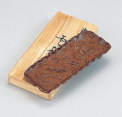 和風小物/ペン皿「雲龍」銅製 二上元威作 桐箱入 48-56