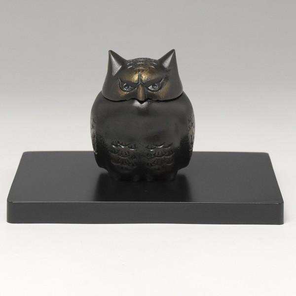 【 高岡銅器 】伝統美術 香炉 「ふくろう」135-06