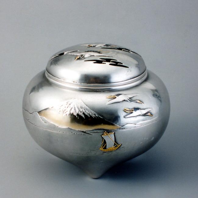永遠の定番 海外送料も無料 富士山水香炉 sk53-19 銀香炉 お気にいる