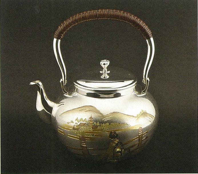 【日本製・証明書付き】純銀 湯沸 5.0寸 舞妓 OK型 obg-n141