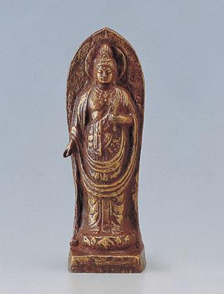 和風置物 「聖観世音像」 銅製 北村西望作