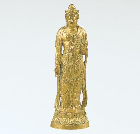 和風置物 「聖観世音菩薩(大)」 銅製(金箔) 北村西望作