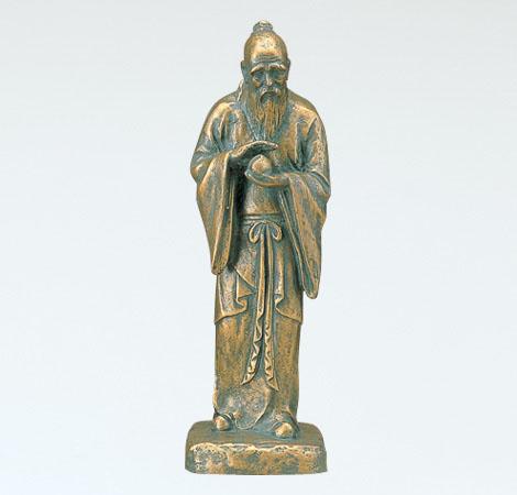 和風置物 「不老長寿(大)」 銅製 北村西望作