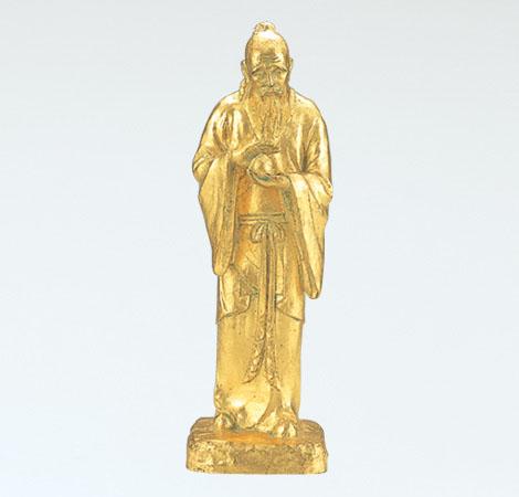 和風置物 「不老長寿(大)」 銅製(金箔) 北村西望作