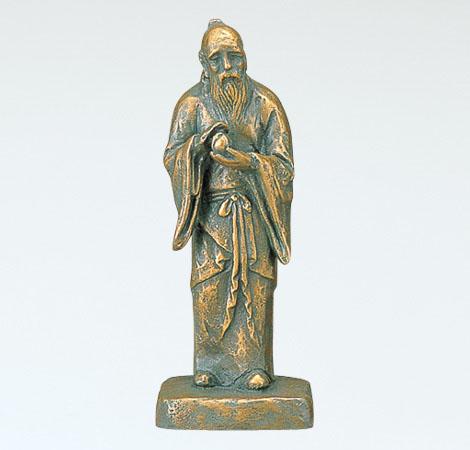 和風置物 「不老長寿(小)」 銅製 北村西望作
