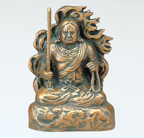ブロンズ像 「不動明王(小)」 銅製 北村西望作