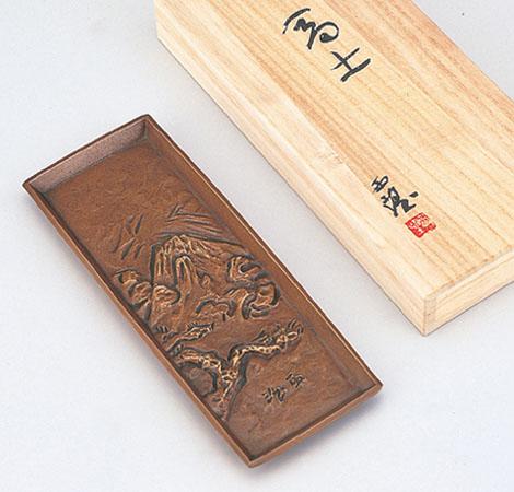 和風小物 ペン皿「富士」 銅製 北村西望作