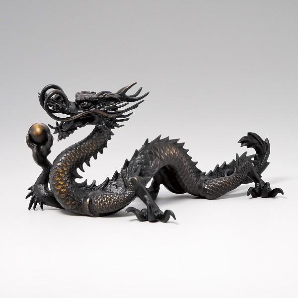 龍 竜 たつ 置物 「竜」干支『辰』銅製 27-58