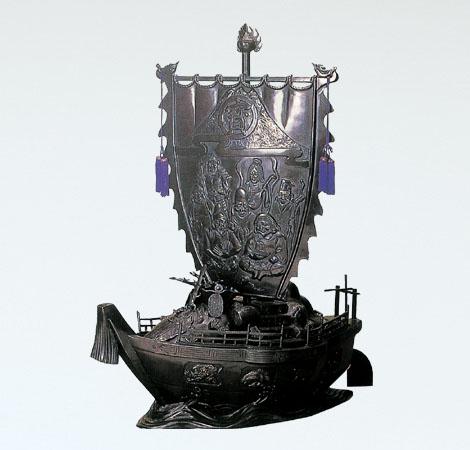 和風置物/般若純一郎作 40号「宝船」銅製