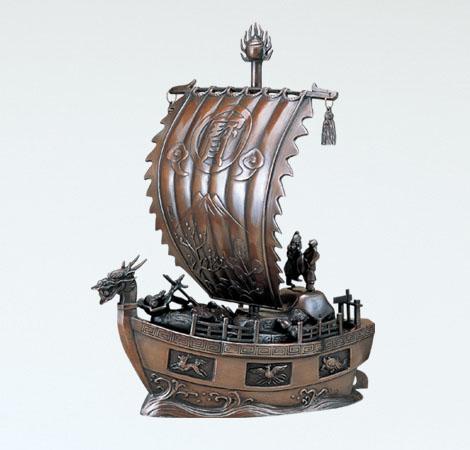 和風置物/般若純一郎作 17号「新宝船」銅製