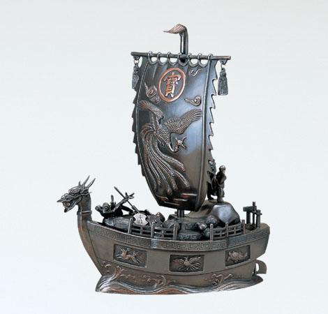 和風置物/般若純一郎作 15号「宝船」銅製