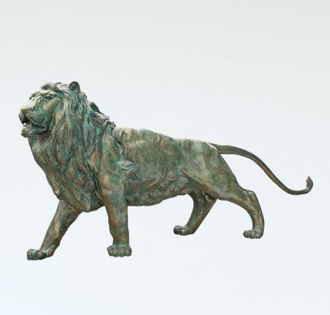 和風置物 「ライオン」 銅製 北村誠峰作