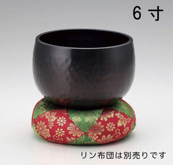 神仏具/お輪 お鈴 おりん「大徳寺りん 6寸」真鍮製 81-12