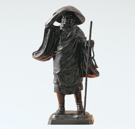 般若純一郎作「親鸞聖人」銅製