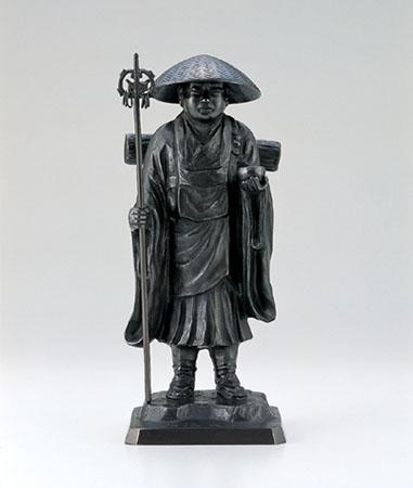 般若純一郎作「弘法大師」銅製