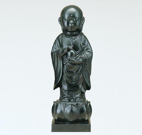 般若純一郎作「稚児地蔵宝珠」銅製