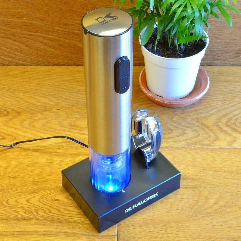 カロリック ワイン 充電式 電気 コルクオープナー Corkscrew コルク抜き コルクスクリュー Kalorik Electric ワイン Push-Button Push-Button Corkscrew in Blue CKS 36812, ベクトル マークスラッシュ:58b722b7 --- sunward.msk.ru