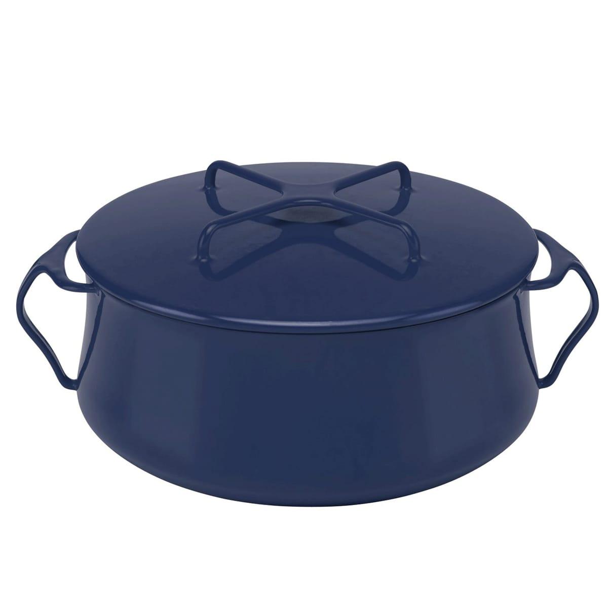 ダンスク コベンスタイル 両手鍋 青 直径24cm 5.7L Dansk Kobenstyle Blue 6 Quart Casserole