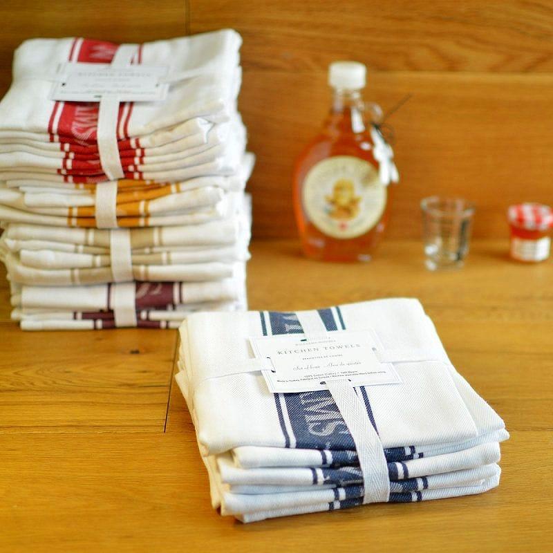 30日間返金保証 送料無料 カラーがいろいろ選べます ウイリアムズ 往復送料無料 ソノマ タオル ロゴ 税込 使い心地が良い 4枚セット Williams-Sonoma 4 Logo of 76×50cm Towels Set Classic