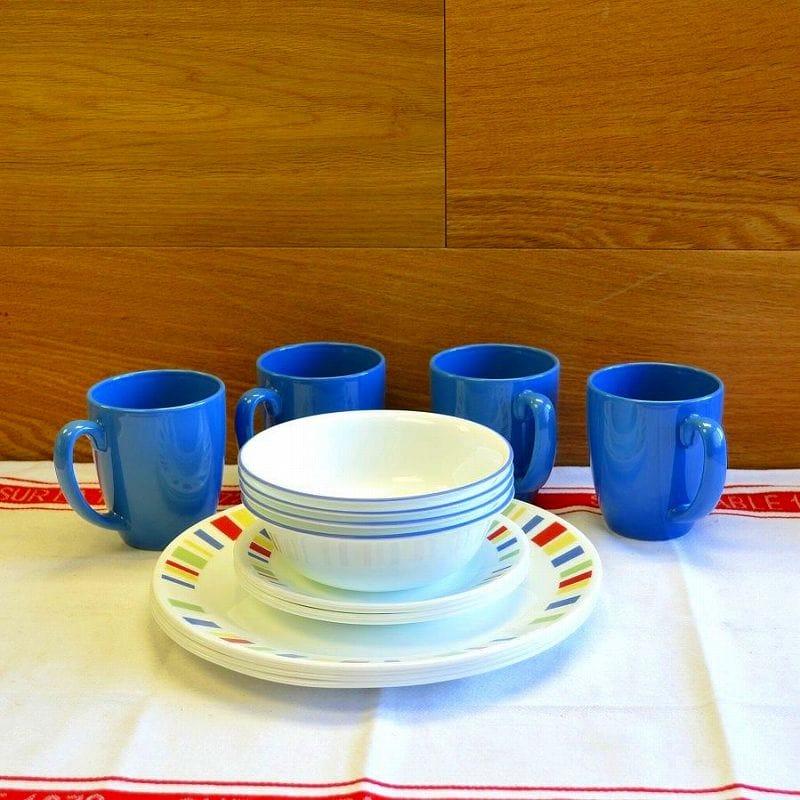 コレール for リビングウェアー メンフィス ディナーウェアー コレール 食器16点セット Corelle Livingware 16-Piece Memphis 16-Piece Dinnerware Set, Service for 4 1092905, あらいぐま堂:6fc10d1b --- mail.ciencianet.com.ar