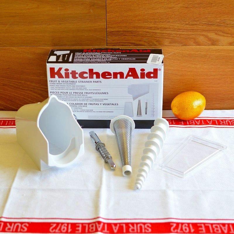 キッチンエイド フルーツ 野菜絞り機 スタンドミキサー フードグラインド用 アタッチメント ストレーナー ろ過器 KitchenAid FVSP Fruit and Vegetable Strainer Parts for Food Grinder