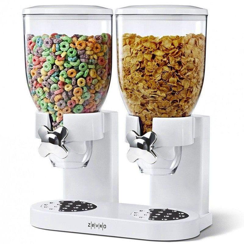 ゼブロ デュアルドライフードディスペンサーホワイト Dry Zevro KCH-06123/GAT201C Indispensable Control, Dry Food Dispenser, Dual KCH-06123/GAT201C Control, White/Chrome, 藤里町:cde4aea1 --- sunward.msk.ru
