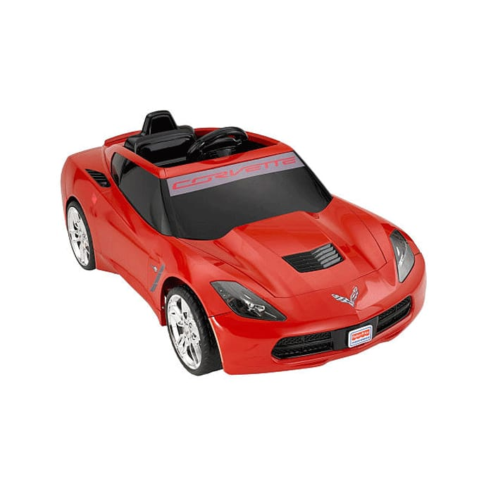 object age 3 years old fisher price power wheels corvette stingray 12 volt battery powered ride on, red with fisher price corbett rei sting train