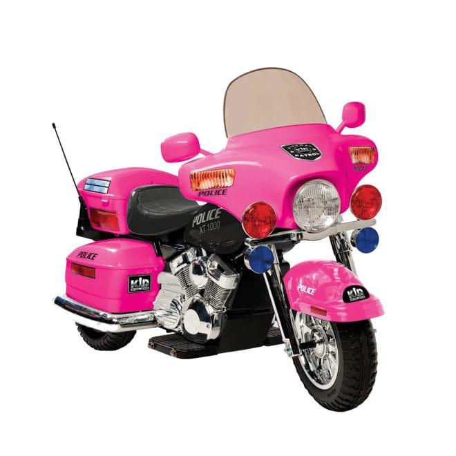 【組立要】 キッドモーターズ オートバイ ピンク 12Vバッテリー付 対象年齢5~9才 Kid Motorz Motorcycle 12-Volt Battery-Powered Ride-on, Pink