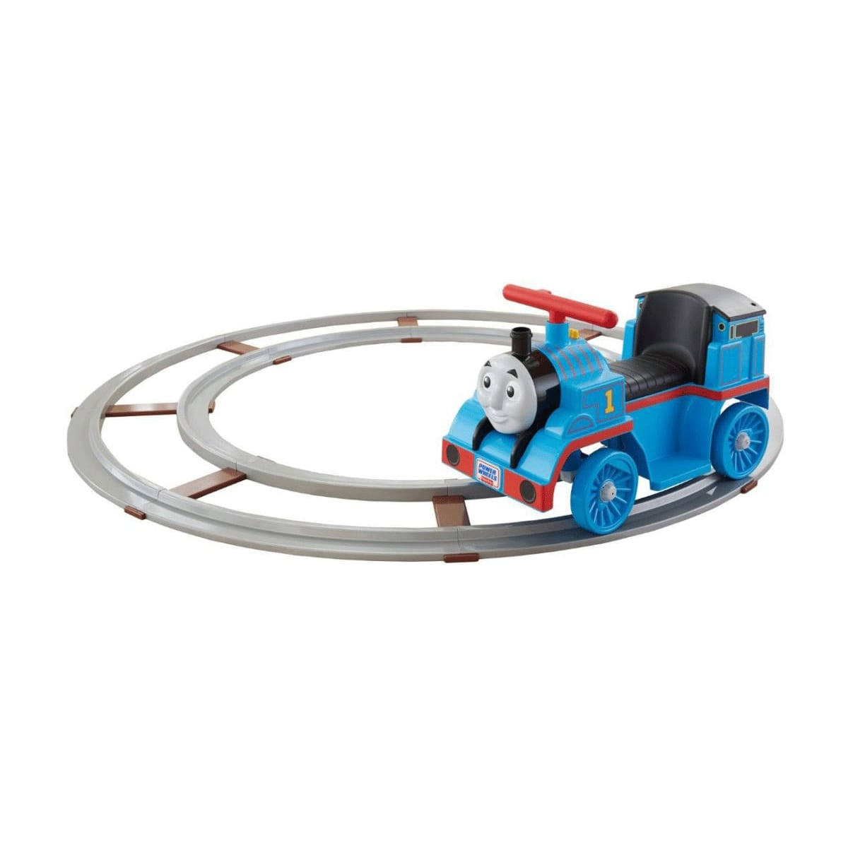 トーマストレイン 線路付電動電車 6Vバッテリー付 電動カー Fisher-Price Power Wheels Thomas the Train On Track 6-Volt Battery-Powered Ride-On