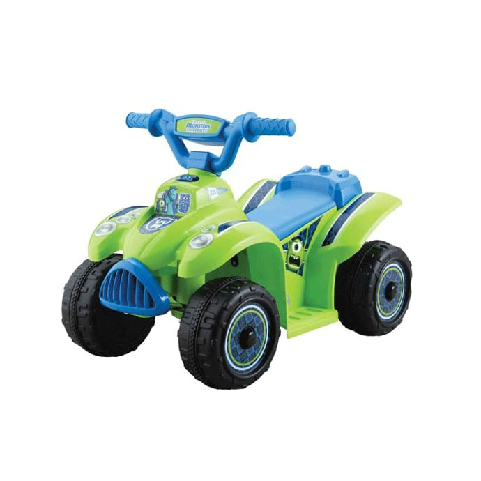 Electric Car Disney Monsters University Boys Quad 6 Volt Battery Ed Ride On With Monster Train Movement 6v