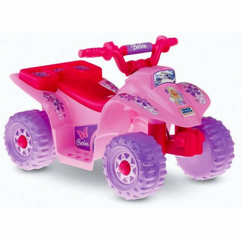 Electric Car Wheels Barbie Lil Quad For The Child