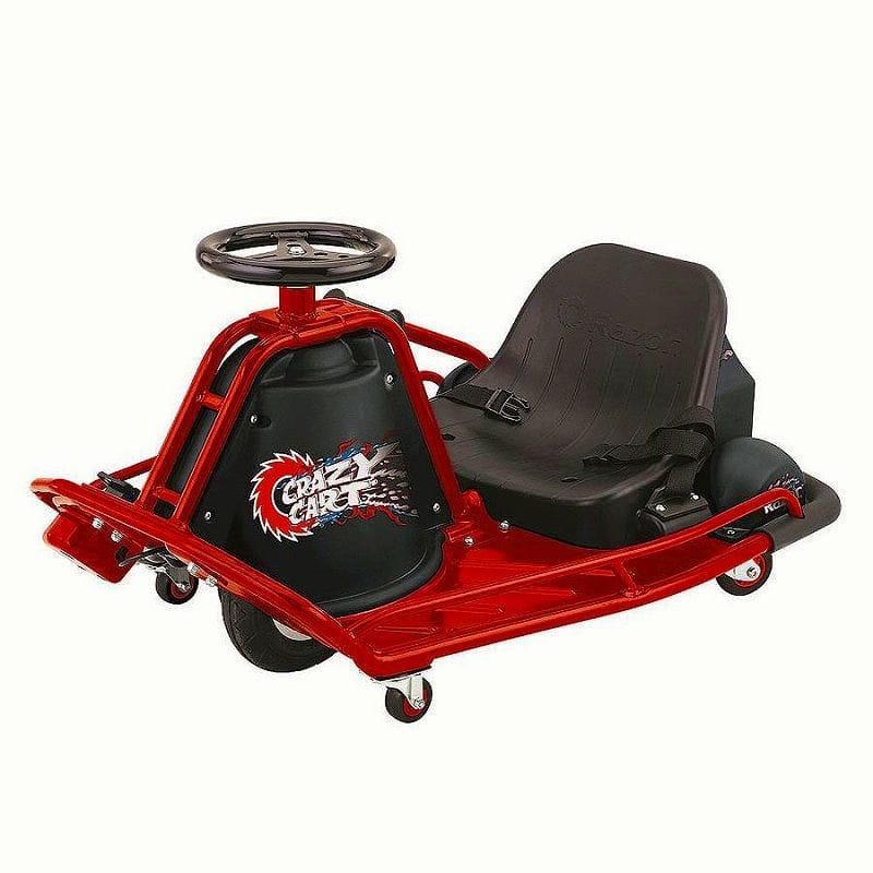 【組立要】レーザー クレイジーカート 12Vバッテリー2個付 9才~ 電動カー Razor Crazy Cart
